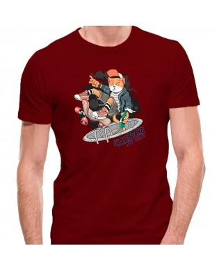 Camiseta Gato Skateboard
