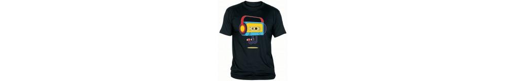 Camisetas con temática rockera y músical